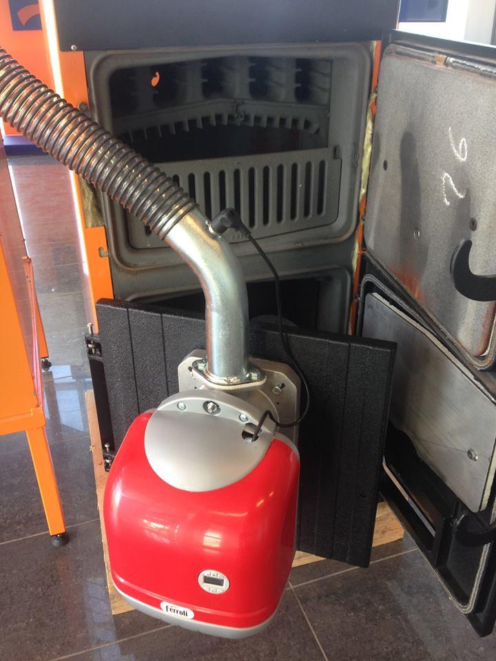 Conjunto caldera pellet le a sfl 3 ferroli 22 kw 190 m2 - Caldera de pellets ...