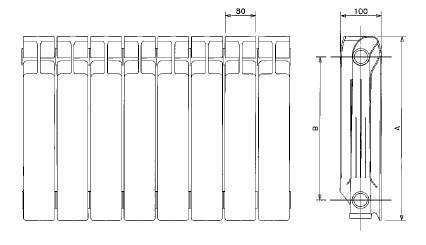 Elementos ferroli modelo xian y europa c pedidos de 90 o - Elementos de radiadores ...