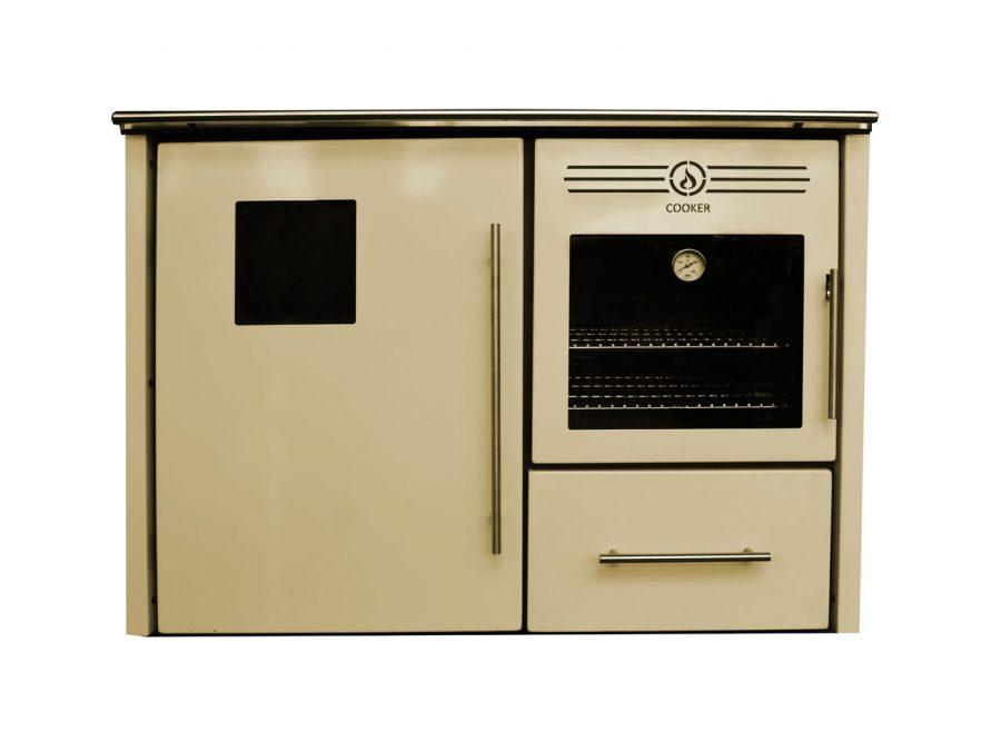Cocina de le a albicalor para radiadores con horno 31 6 kw 230 m2 sercatec albacete s l - Cocina con horno de lena ...