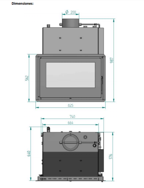 Insertable de le a para radiadores ferroli nella 30 2 kw - Calefaccion lena radiadores ...