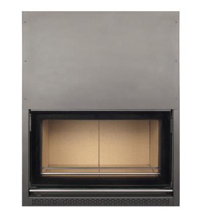 chimenea de leña insertable albicalor guillotina