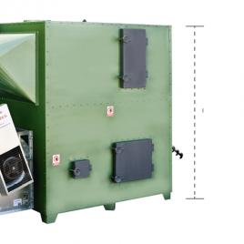 generador de aire caliente a biomasa