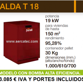 Caldera de Pellets Ferroli ALDA T 18 (150 m2)