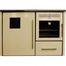 Cocina de leña Albicalor para radiadores con horno (31,6 kw) (230 m2)
