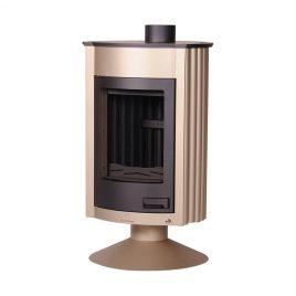 Estufa de leña de doble combustión modelo Medie II (16 kw) 120 m2