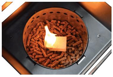 detalle deposito pellet grill