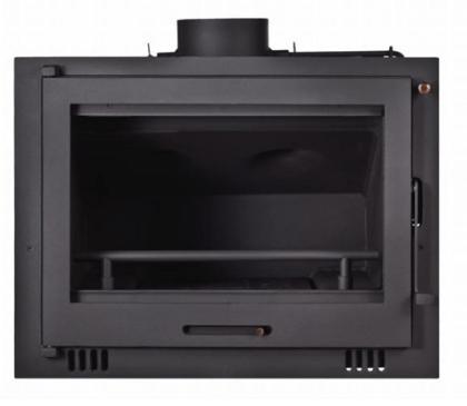 chimenea de leña conexion a radiadores