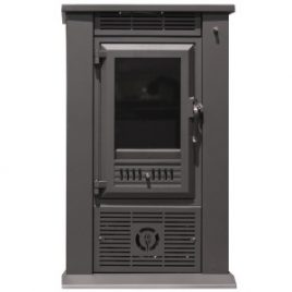 Estufa de leña con ventiladores 8,3 kw (60 m2)