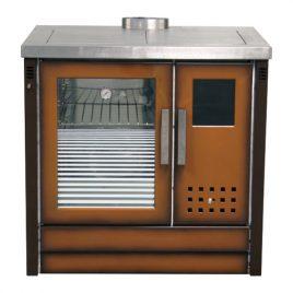 Cocina de leña calefactora TROPICAL AC (14,8 kw al agua) 110 m2