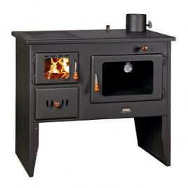 Cocina de leña con horno priyt 18 kw (130 m2) a radiadores 14 kw + 4 kw al aire.