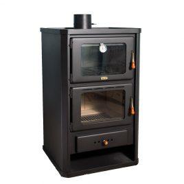 Estufa de leña con horno de 14 kw (105 m2)