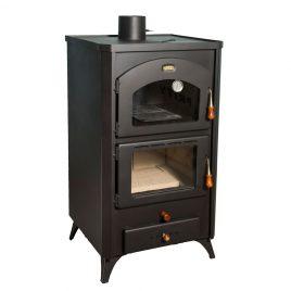 Estufa de leña con horno de 14 kw (105 m2) retro.