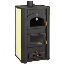 estufa de leña con horno para calefaccion central