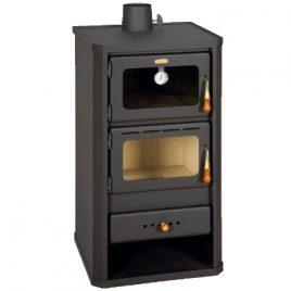 Estufa de leña con horno de 12 kw (90m2)