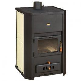 estufa de leña calefaccion central radiadores