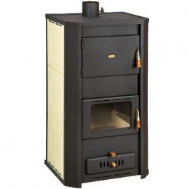estufa de leña para calefaccion central radiadores