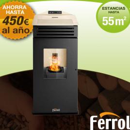 Estufa de pellet Lira Plus Ferroli 6,33 kw (55 m2)