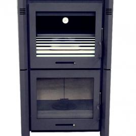 Estufa de leña con horno modelo BETA 11,6 Kw (85 m2)