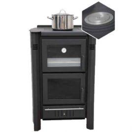 Estufa de leña con horno modelo LUKA 11,5 Kw (85 m2)