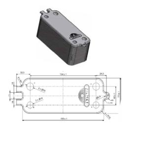 intercambiador de placas caldera junkers 8716771987
