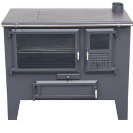 Cocina de leña Metlor (9,6 kw) 75 m2 (ME130)