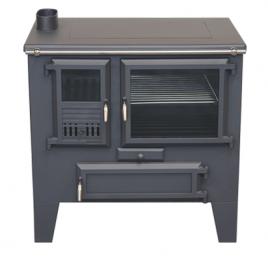 Cocina de leña Metlor (9,6 kw) 75 m2 (ME70)