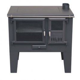 Cocina de leña Metlor (9,6 kw) 75 m2 (ME700)