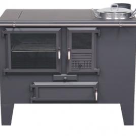 Cocina de leña Metlor (9,6 kw) 75 m2 (ME90)
