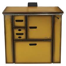 Cocina de leña esmaltada marron sin deposito 15,6 kw (110 m2)