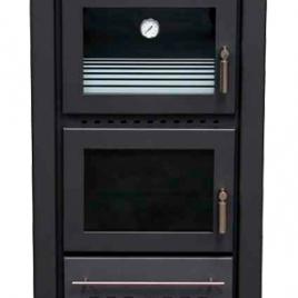 Estufa de leña con horno modelo IRIS 11,5 Kw (85 m2)