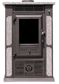 Estufa de leña SPF GRANITO con ventiladores 8,3 kw (60 m2)