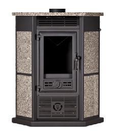 Estufa de leña con ventiladores RINCON SPC GRANITO 8,3 KW (60m2)