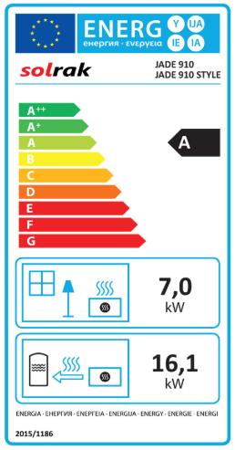 etiqueta energetica jade 910 sercatec