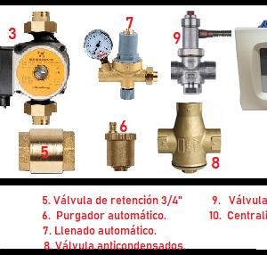 kit hidroestufas de leña SUPERIOR